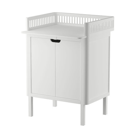 Sebra Baby changing table with doors white wood 70x75x85cm