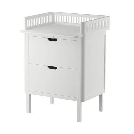 Sebra Baby changing table with drawers white wood 70x75x85cm