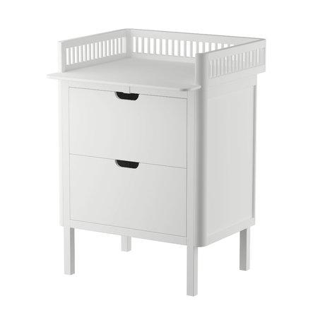 Sebra Commode Baby met lades wit hout 70x75x85cm