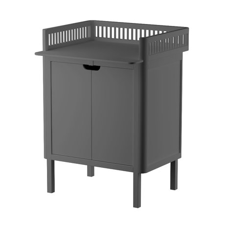 Sebra Baby changing table with doors dark gray wood 70x75x85cm