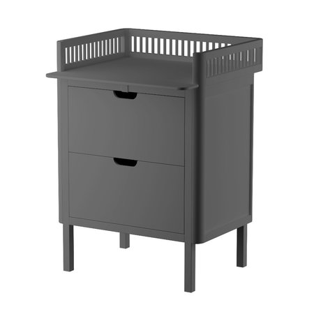 Sebra Baby changing table with drawers dark gray wood 70x75x85cm