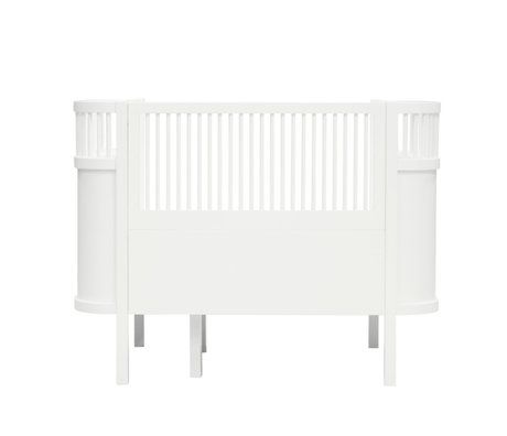 Sebra Bed Baby & Junior classic white wood 115-152x75,8x88cm