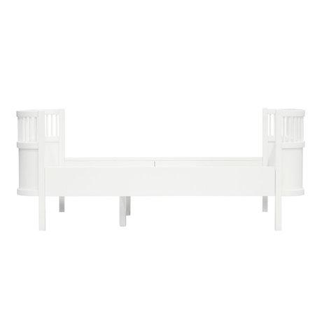 Sebra Child's bed Junior Grow classic white wood 165-204x94x70cm