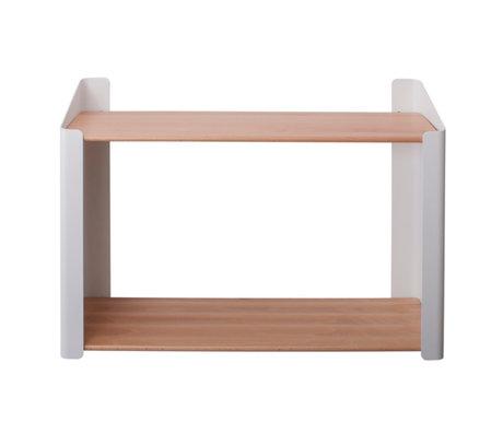 Sebra Children's wall shelf Double brown white wood metal 60x20.4x44cm