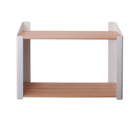 Sebra Kinderwandplank Double bruin wit hout metaal 60x20,4x44cm