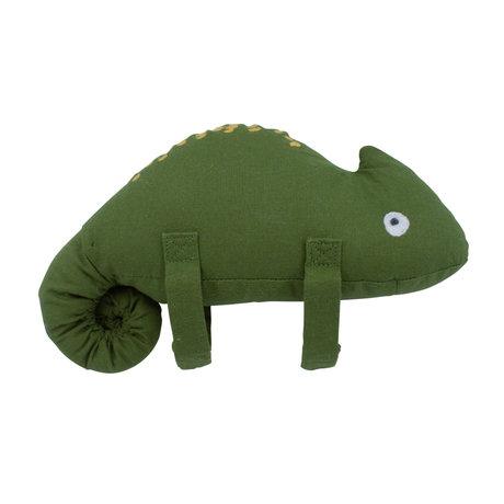 Sebra Muziek mobiel Carley de kameleon groen textiel 20x15,5cm