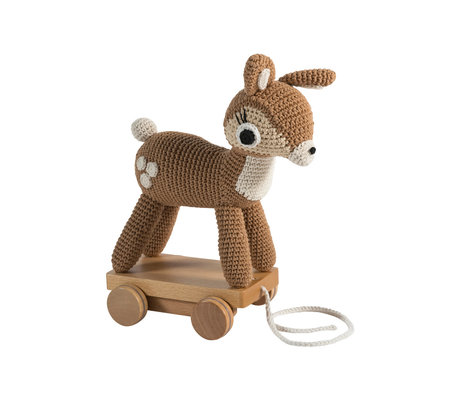 Sebra Draft animal Deer brown textile wood 22x13x26cm