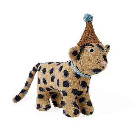 OYOY Knuffel Baby Elvis Leopard bruin textiel 33x27cm