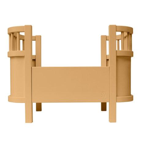 Sebra Doll bed honey yellow wood 49x31x35cm