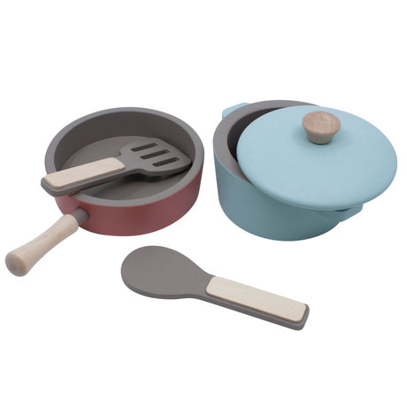 Sebra Kitchen set mini multicolour wood set of 4