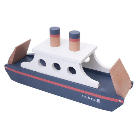 Sebra Toy Ferry multicolour wood 50x14x23.9 cm