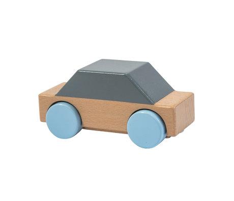 Sebra Speelgoed Auto grijs multicolour hout 14x5,9x6,8cm