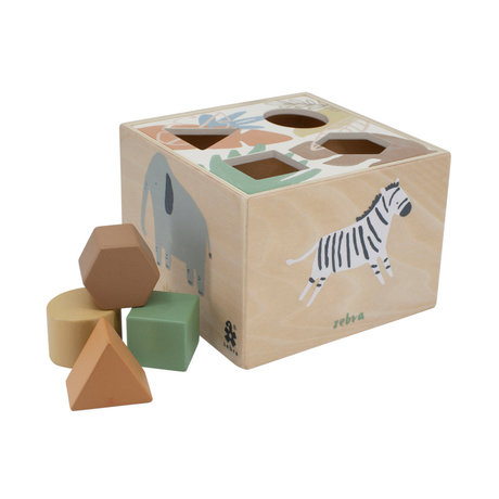 Sebra Shape puzzle Wildlife multicolour wood 14x14x10cm