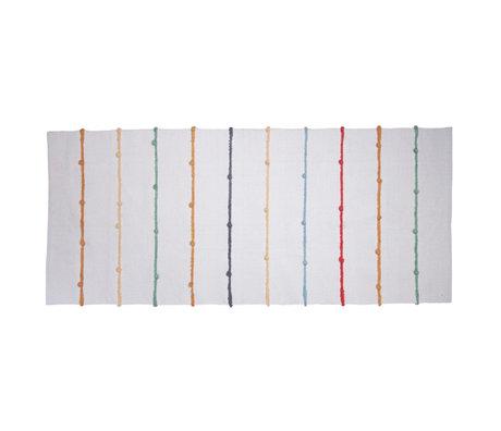 Sebra Children's floor rug Dots white multicolour textile 180x80cm