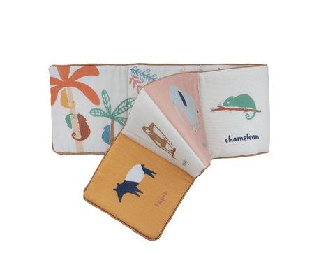Sebra Stoffen boekje Wildlife multicolour textiel 100x16cm