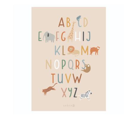 Sebra Poster Wildlife Alphabet multicolor paper 50x70cm