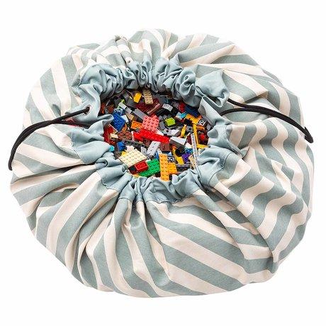 Play & Go Kinderopbergzak/speelkleed Stripes Green groen katoen ø140cm