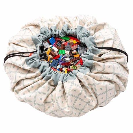 Play & Go Child storage bag / play mat Geo Green green cotton ø140cm
