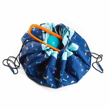 Play & Go Child storage bag / play rug Outdoor Surf multicolour polyester ø140cm