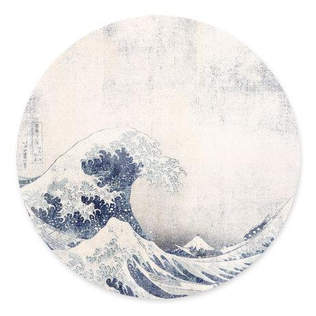 Groovy Magnets Kindermagneetsticker Under the wave blauw zelfklevend vinyl met ijzerdeeltjes Ø60cm