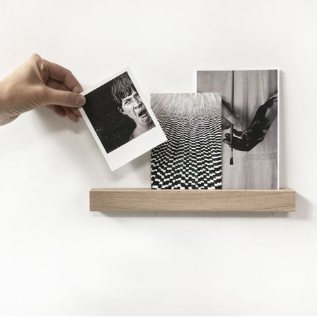 Groovy Magnets Magnetische kinderwandplank bruin hout magneetfolie S 30x3x2cm