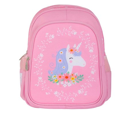A Little Lovely Company Children's backpack Unicorn pink polyester 27x32x15cm