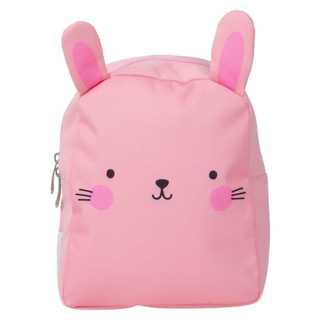 A Little Lovely Company Children's backpack Bunny pink polyester 21x26x10cm