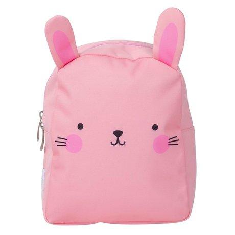 A Little Lovely Company Kinderrugzak Bunny roze polyester 21x26x10cm