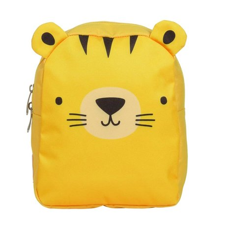 A Little Lovely Company Children's backpack Tiger yellow polyester 21x26x10cm
