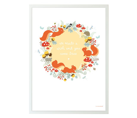 A Little Lovely Company Kinderposter Squirrel forest multicolour papier 50x70cm