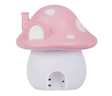 A Little Lovely Company Night light Mushroom House Fairies pink 17.5x 19x17.5cm