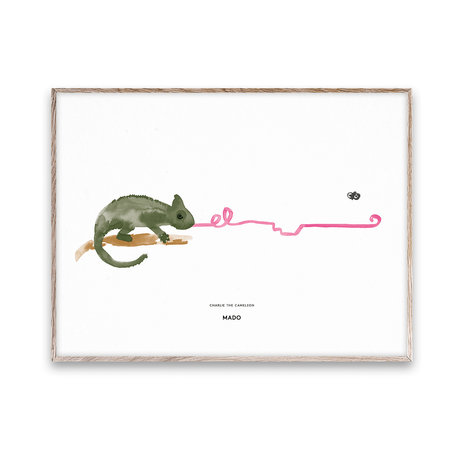 Paper Collective shop Poster Charlie the Chameleon multicolored paper 30x40cm