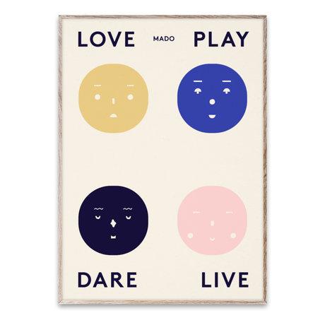 Paper Collective shop Poster Four Feelings multicolour paper 50x70cm
