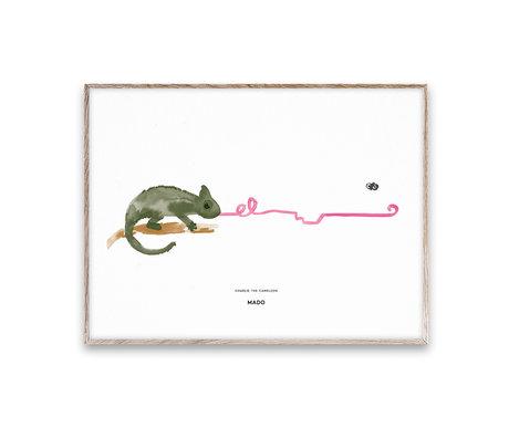 Paper Collective shop Kinderposter Charlie the Chameleon multicolour papier 50x70cm
