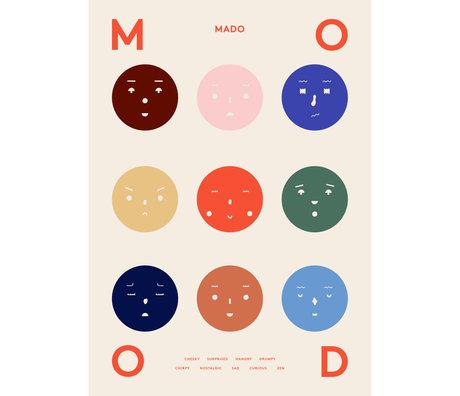 Paper Collective shop Kinderposter 9 Moods multicolour papier 50x70cm