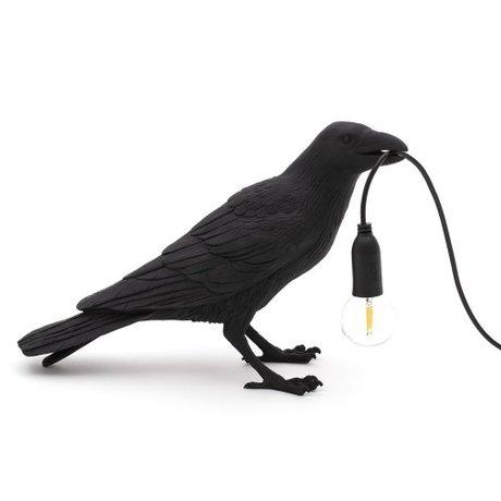 Seletti Kindertafellamp Bird waiting zwart outdoor 29,5x12x18,5cm