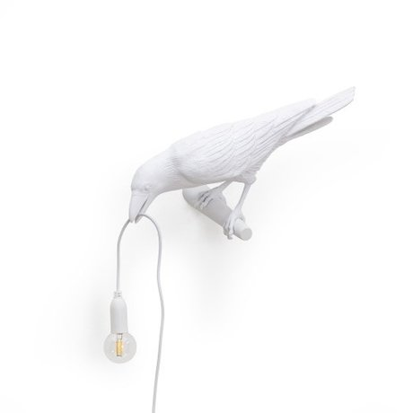 Seletti Children's wall lamp Bird looking left white 32.8x14.5x12.3cm