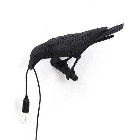 Seletti Children's wall lamp Bird looking left black 32.8x14.5x12.3cm