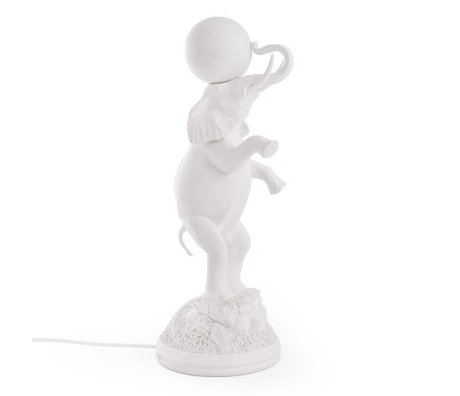 Seletti Children's table lamp Elephant white 21.5x55.5cm