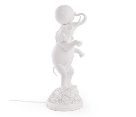 Seletti Kindertafellamp Elephant wit 21,5x55,5cm
