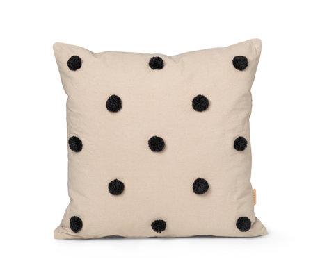 Ferm Living Children's cushion Dot Tufted sand brown cotton 48x48cm