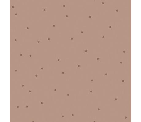 Ferm Living Kinderbehang Dot roze 10x0,53m