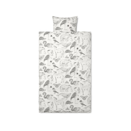 Ferm Living Children's duvet cover Katie Scott, off-white cotton 70x100cm incl. Pillowcase