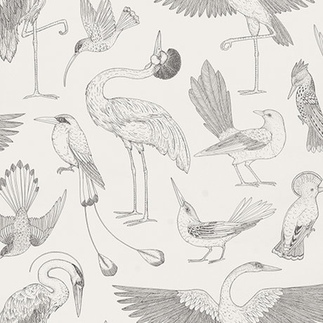 Ferm Living Kids wallpaper Katie Scott birds off-white 10x0,53m