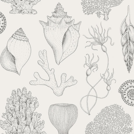 Ferm Living Wallpaper Katie Scott shells off-white 10x0.53m