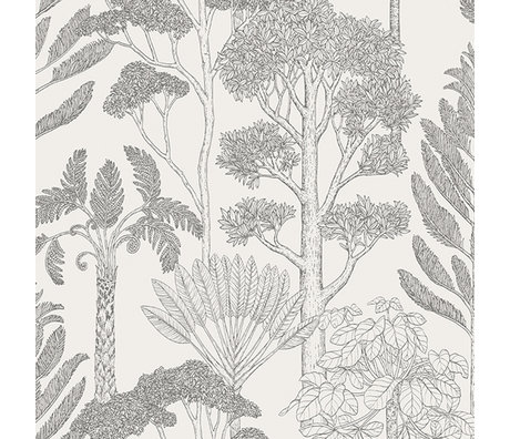 Ferm Living Kids wallpaper Katie Scott trees off-white 10x0.53m