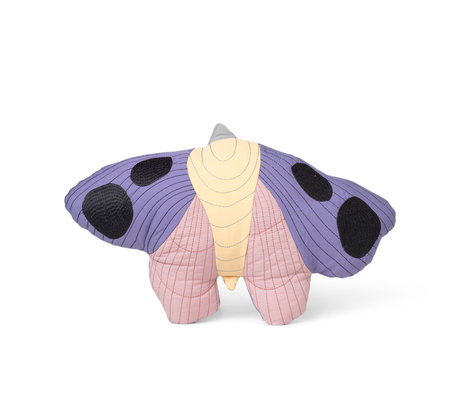 Ferm Living Children's cushion Moth multicolored cotton 47x32cm