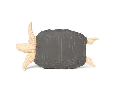 Ferm Living Kinderkussen Turtle groen katoen 27x50cm