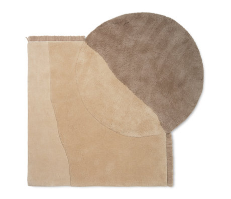 Ferm Living Carpet View beige wool 140x180cm