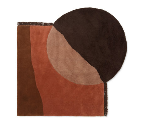 Ferm Living Carpet View red brown wool 140x180cm